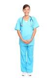 Aziatische verpleegster status Royalty-vrije Stock Afbeeldingen