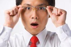 Aziatische verraste zakenman royalty-vrije stock afbeeldingen
