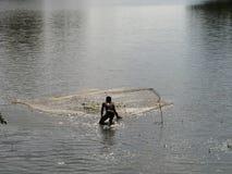 Aziatische visser Stock Foto