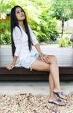 Aziatische vrouw. Stock Foto