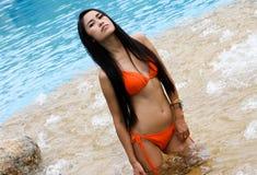 Aziatische vrouw. Royalty-vrije Stock Afbeeldingen