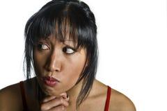 Aziatische vrouw Stock Foto