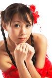 Aziatische vrouw Stock Afbeelding
