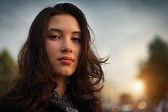 Aziatische vrouw stock fotografie
