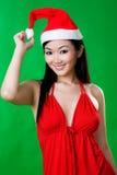 Aziatische vrouw als santarina Stock Afbeelding