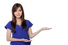 Aziatische vrouw die presentatie doen royalty-vrije stock foto
