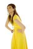 Aziatische vrouw in kleding Stock Afbeeldingen