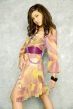 Aziatische vrouw in kleding Royalty-vrije Stock Afbeelding
