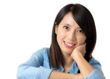 Aziatische vrouw met glimlach Royalty-vrije Stock Afbeelding