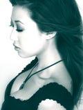Aziatische Vrouw in Profiel Stock Afbeeldingen