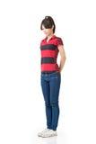 Aziatische vrouw, volledig lengteportret Stock Foto