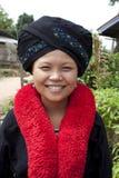 Aziatische vrouw, Yao, van Laos stock foto