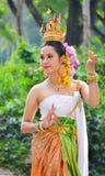Aziatische vrouwen in traditioneel kostuum Stock Foto
