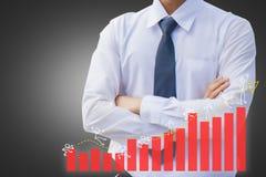 Aziatische zakenlieden met effectenbeurs voor investering handel royalty-vrije stock foto