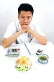 Aziatische zakenman royalty-vrije stock foto's