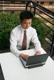 Aziatische zakenman royalty-vrije stock fotografie