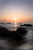 Aziatische zonsondergang royalty-vrije stock afbeelding