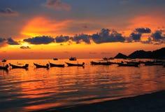 Aziatische zonsondergang Stock Afbeeldingen
