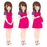 Aziatische Zwangere Vrouw Royalty-vrije Stock Afbeeldingen