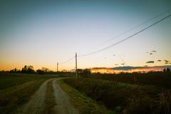 Azienda agricola abbandonata nella campagna Fotografia Stock