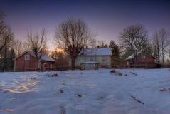 Azienda agricola abbandonata in Svezia Fotografie Stock