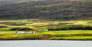 Azienda agricola in Akureyri Fotografia Stock