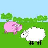 Azienda agricola animale Fotografia Stock Libera da Diritti