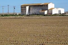 Azienda agricola arabile e campo arato Fotografia Stock