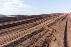 Azienda agricola arata del suolo della terra Fotografia Stock Libera da Diritti