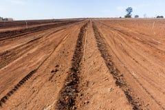 Azienda agricola arata del suolo della terra Fotografie Stock