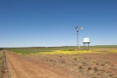 Azienda agricola Australia del mulino a vento Immagini Stock