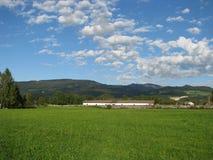 Azienda agricola in Austria Fotografia Stock Libera da Diritti