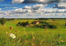 Azienda agricola con il fiore Immagini Stock Libere da Diritti