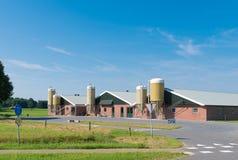 Azienda agricola con il silos Immagine Stock Libera da Diritti