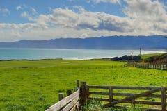 Azienda agricola con le viste del mare Immagini Stock Libere da Diritti