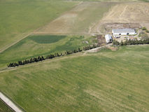 Azienda agricola dal cielo Immagini Stock
