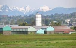Azienda agricola del canadese della costa ovest Fotografie Stock Libere da Diritti
