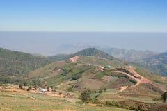 Azienda agricola del cavolo sull'altopiano Fotografia Stock Libera da Diritti