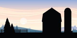 Azienda agricola del fumetto illustrazione vettoriale