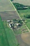 Azienda agricola del Minnesota - antenna immagini stock