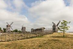 Azienda agricola del mulino a vento Fotografie Stock