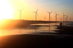 Azienda agricola del mulino a vento Immagine Stock Libera da Diritti