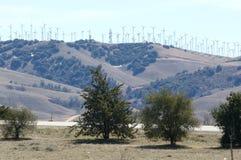 Azienda agricola del mulino a vento fotografia stock libera da diritti
