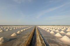 Azienda agricola del sale, pentola del sale in Tailandia Immagini Stock