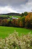 Azienda agricola del Vermont nella caduta Fotografia Stock