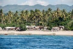 Azienda agricola dell'alga delle alghe nel panorama di vista dell'Indonesia Immagini Stock