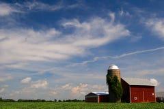 Azienda agricola dell'Illinois Immagini Stock