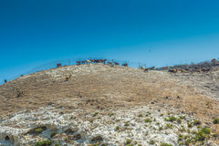 Azienda agricola della capra nelle montagne del Cipro Immagini Stock