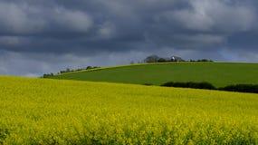 Azienda agricola della collina del mulino a vento, Hampshire, Regno Unito fotografia stock