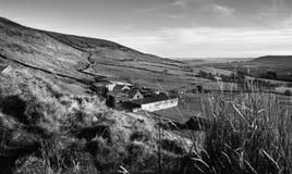 Azienda agricola della collina, Rhondda Cynon Taff Fotografia Stock
